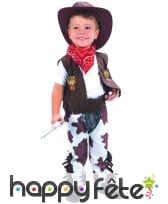 Costume de petit cowboy vachette avec chaps