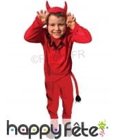 Costume de petit diable rouge