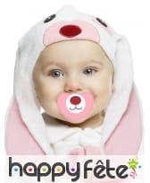 Costume de petit lapin rose pour bébé, luxe, image 1