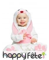 Costume de petit lapin rose pour bébé, luxe