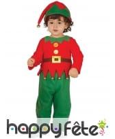 Costume de petit lutin de Noël pour tout petit