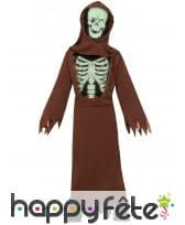 Costume de petit moine squelette