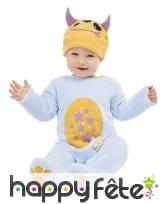 Costume de petit monstre bleu pour bébé