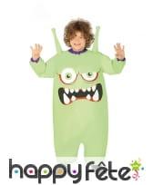 Costume de petit monstre vert gonflable, enfant