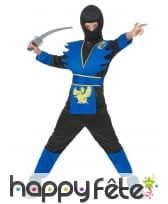 Costume de petit ninja bleu et noir, image 1