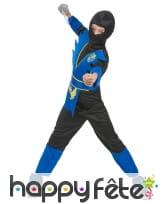 Costume de petit ninja bleu et noir, image 2