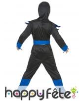 Costume de petit ninja bleu et noir, image 3