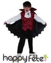 Costume de petit vampire imprimé têtes de mort, image 3