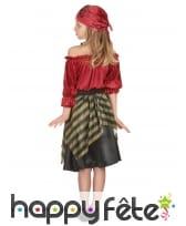 Costume de petite corsaire rouge effet velours, image 2