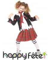 Costume de petite écolière zombie