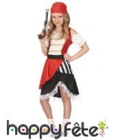 Costume de petite piratesse avec dentelle blanche, image 1