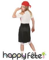 Costume de petite piratesse avec dentelle blanche, image 2