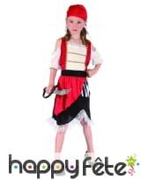 Costume de petite piratesse avec dentelle blanche, image 3