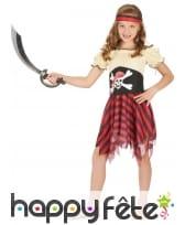 Costume de petite piratesse motif tete de mort, image 1