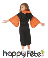 Costume de petite sorcière araignée noir orange, image 2
