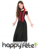 Costume de petite vampire dentelé noir et rouge, image 1