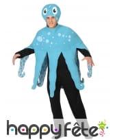 Costume de pieuvre bleue pour homme