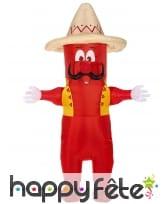 Costume de piment mexicain gonflable pour adulte, image 1