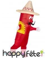 Costume de piment mexicain gonflable pour adulte, image 2