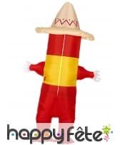 Costume de piment mexicain gonflable pour adulte, image 3