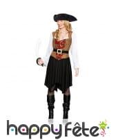 Costume de pirate avec arabesques pour femme