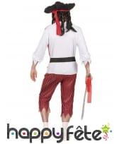 Costume de pirate rouge blanc noir pour adulte, image 2