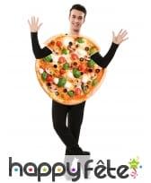 Costume de pizza végétarienne pour adulte, image 1