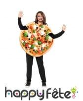 Costume de pizza végétarienne pour adulte