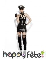 Costume de policière sexy sm, effet mouillé, image 3