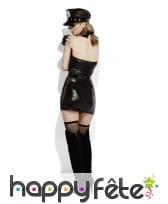 Costume de policière sexy sm, effet mouillé, image 4