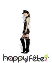 Costume de policière sexy sm, effet mouillé, image 1
