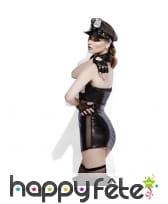 Costume de policière sexy sm, effet mouillé, image 2