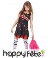 Costume de pompom girl zombie pour enfant, image 1