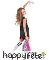 Costume de pompom girl zombie pour enfant, image 2