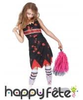 Costume de pompom girl zombie pour enfant