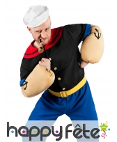 Costume de Popeye avec gros bras