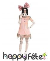 Costume de poupée terrifiante pour femme
