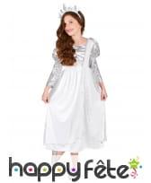 Costume de princesse blanche et argent pour enfant, image 1