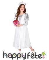 Costume de princesse blanche et argent pour enfant, image 2