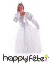Costume de princesse blanche et argent pour enfant