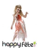 Costume de princesse zombie enfant