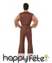 Costume disco pattes d'eph marron pour homme, image 1