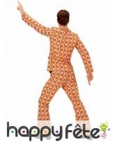 Costume disco psychedelique orange homme, image 2