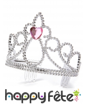 Couronne de princesse avec pierre coeur centrale