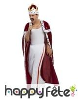Cape de Queen avec pantalon, couronne et moustache