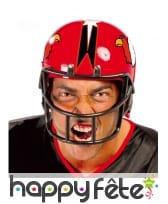 Casque de rugbyman rouge pour adulte