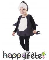 Costume de requin gris blanc pour bébé