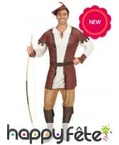 Costume de robin des bois style moyen âge