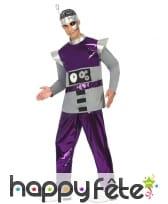 Costume de robot violet futuriste pour homme