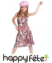 Costume disco reptile multicolore pour fillette, image 1
